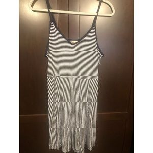 •• Navy/White Striped Dress ••